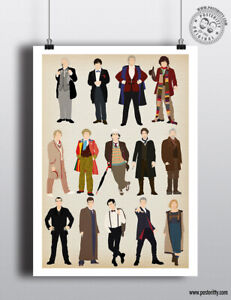 14 Doctors DOCTOR WHO  Minimalist Poster Minimal Dr Print Whovian Art Posteritty