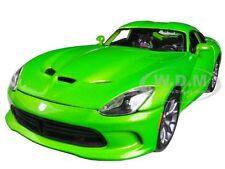 2013 DODGE VIPER GTS GREEN 1/18 DIECAST MODEL CAR 1/18 BY MAISTO 31128