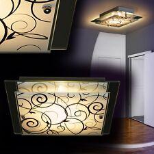 Plafonnier Lustre Lampe à suspension Luminaire de couloir Verre satiné 135644