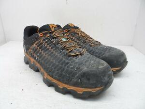 Timberland Pro Men's Powertrain Sport AT Work Shoes A1RV3 Black/Orange 9.5W