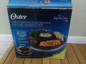 Oster party serving platter with electric warming pot - New