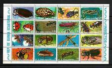 Insectes Guinée équatoriale (14) série complète de 16 timbres oblitérés