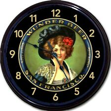 Wunder Beer Brewing Co Beer Tray Wall Clock San Francisco CA Ale Lager Man Cave