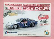RALLYE MONTE CARLO 2013 - ALPINE RENAULT A110 / 1300  - CHIANEA  / KEMP