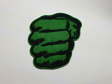 HULK SMASH iron on or sew on Patch The Avengers Green Fist Punch Marvel Comics