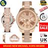 NEW GENUINE MICHAEL KORS MK6096 WREN CRYSTAL ROSE GOLD LADIES WATCH UK STOCK