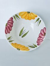 Roma Inc Lg Wine And Yellow Flower Hand Painted Pasta Bowl Made in Italy. 10 1/2