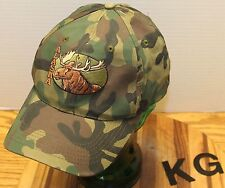 OLD SCHOOL MILITARY STYLE CAMO ALASKA HAT WITH BULL MOOSE SNAPBACK VGC