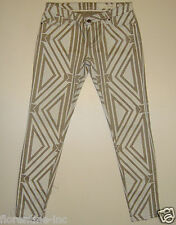 "BNWT:SASS&BIDE DECO PRINT SKINNY FIT JEANS - 30 ""TIME TO DANCE"" ZIPPORA"