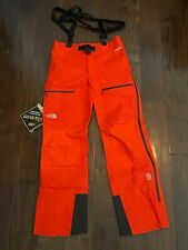 The North Face Mens Summit L5 Gore-tex Pro Snow Pants Size Medium Fiery Red