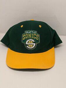 Seattle Sonics Supersonics Adidas NBA Hardwood Unisex Adult Adj Snapback Cap Hat