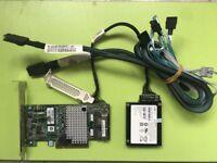 LSI 9267-8i 6Gb 512MB 8Port SAS Controller Card+8087 to (4) 7-Pin SATA+Battery