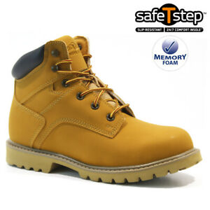 MENS SAFETY STEEL TOE CAP ARMY COMBAT WORK ANKLE WALKING HIKER BOOTS SHOES SIZE