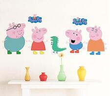 3D peppa pig kids room decor sticker girl wall decals Nursery Mural party gift
