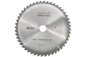 Metabo Kreissägeblatt HW/CT 254x30, 48 WZ 5°neg. passend für KGS 254 M