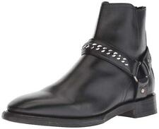 New in Box - $458 FRYE Weston Chain Harness Back Zip Black Leather Boots Size 9