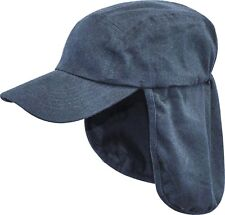 MENS LEGIONNAIRES HAT 100% cotton sun safe bush cap Gents wide neck cover hiking