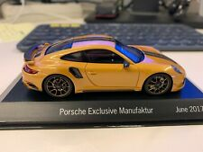 Porsche 911 Turbo S Exclusive Series Diecast Model Car 1:18 Scale GOLDEN YELLOW