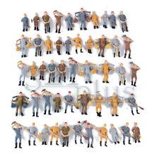 50 Stk Modellbau Figuren 1:50 Miniatur Bauarbeiter Maßstab 1:48 Zubehör Menschen