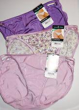 3 Vanity Fair Bikini Nylon Illumination Panty 6 M 18108 Pink Purple Colors NWT