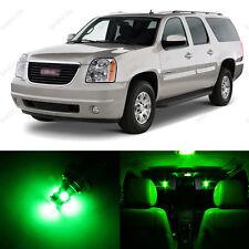 8 x Green LED Interior Light Package For 2007 - 2013 GMC Yukon