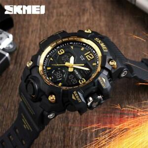 SKMEI Army Military Sport Men's LED Quartz Analog Digital Wrist Waterproof I7H5