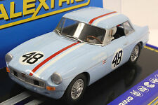 SCALEXTRIC C3312 MGB ROADSTER 1964 SEBRING WITH LIGHTS 1/32 SLOT CAR DPR READY
