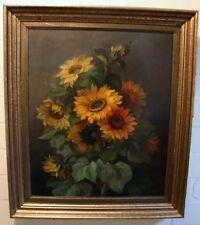 Joseph Pilters / 1877 - 1957/ bedeutender Blumenmaler / Stillleben (Sonnenblume)