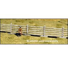 """POST & RAIL FENCING SECTIONS - 12 SECTIONS AT 2-3/8"""" EACH - N SCALE - GHQ ACW51"""