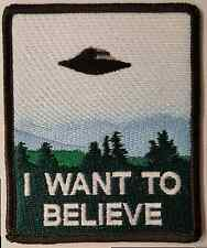 I Want to Believe X-File Poster Embroidered Patch