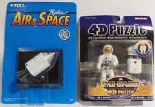 SPACE : APOLLO 11 COMMAND MODULE CARDED DIE CAST MODEL & ASTRONAUT 4D PUZZLE