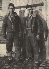 1944 WWII Photo 2 US Army Air Corps Air Crewmen in Flight Gear