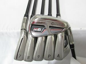 Used RH TaylorMade M6 Iron Set 6-P,A Regular Flex Graphite Shafts