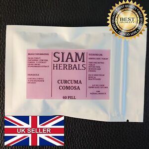 60 Curcuma Comosa Vaginal Tightening Tighter Uterus PMS Menstrual Stop Odor Pill