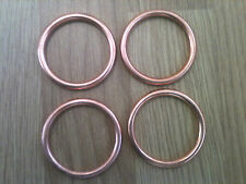 4 Copper Exhaust Gaskets Kawasaki ZX6R ZX600 1995-99