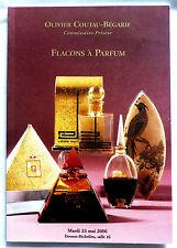 """TRES BEAU CATALOGUE DE VENTE """"FLACONS A PARFUM"""" 23 MAI 2006"""