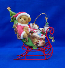 NEW! CHERISHED TEDDIES NATE 118390 SANTA'S SLEIGH IS ON IT'S WAY - CHRISTMAS