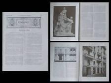 LA CONSTRUCTION MODERNE, n°9, 1910, JULES FERRY, MILAN, GIULIO ULISSE ARATA