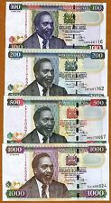 SET, Kenya, 100;200;500;1000, 2006-2010, P-NEW, UNC