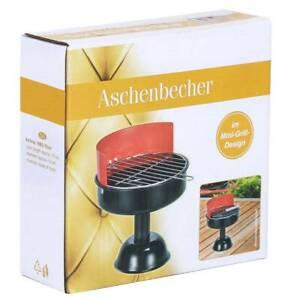 Haushalt International Aschenbecher im Mini-Grill-Design
