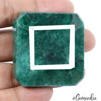 358 Cts Natural Green Emerald Octagon Cut Brazilian Earth mined Loose Gemstone