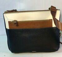 NWT Fossil Marissa Leather Black Bag Crossbody & Clutch SHB2329016 MSRP $168
