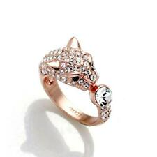 NEW Rose Gold Plated Leopard Ring featuring Swarovski Crystals