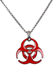 Bio Hazard Poison Chemical Pendant Sexy Necklace Industrial Gothic Style