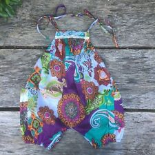 Children's girl's baby harem jumpsuit baggy summer hippy hippie boho 0 - 4 yrs