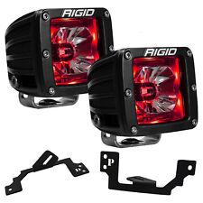 Rigid Radiance LED Fog Light Kit w/ Red Backlight for Dodge Ram 1500 2500 3500