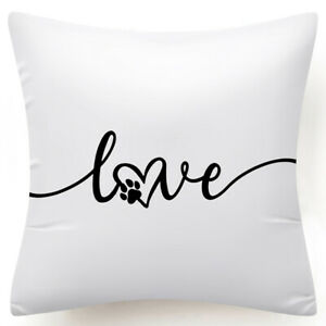 """18x18"""" Black White Throw PILLOW COVER Double-Sided Decorative Soft Cushion Case"""