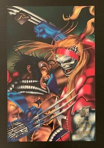 1994 Fleer FLAIR Marvel Cards Wolverine Vs Omega Red Large Promo Print Rare