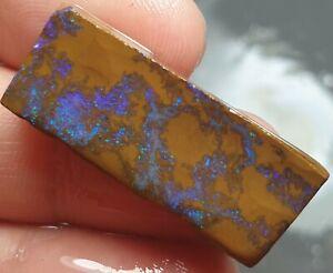 Boulder Opal Rough Rub Blue Matrix Natural Winton Lapidary Specimen 17.1 Cts