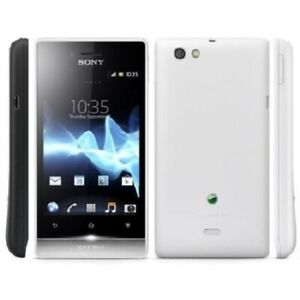 Brand New! SONY XPERIA miro unlocked mobile phone GSM ST23A  White